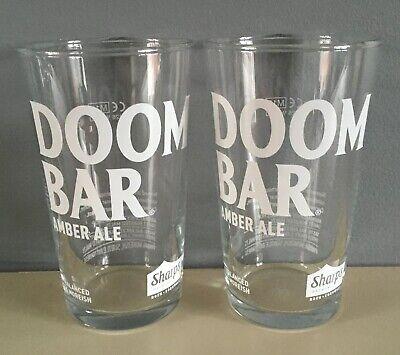 Sharps Doombar HALF Pint Beer Glass New Set of 2