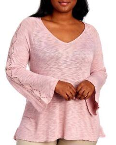 482ae4edf91457 Jessica Simpson Women Plus Size 1x 2x Pale Mauve Sweater Tunic Top ...