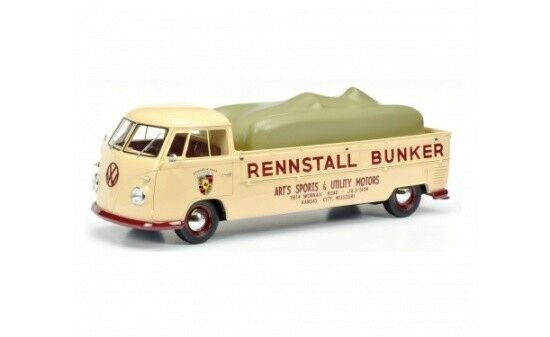 Schuco VW t1 renntransporter  cupé bunker  (00075) - 1 18