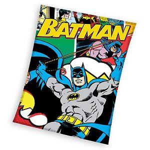 Batman-Couverture-Polaire-Enfants-A-Theme-Chambre-Neuf-100-Officiel