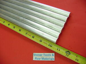 """4 pieces 5//8/"""" ALUMINUM 6061 ROUND ROD 14/"""" LONG T6511 .625 Solid Lathe Bar Stock"""