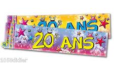 BANDEROLE 20 Ans Décoration de Salle Anniversaire Bannière Guirlande