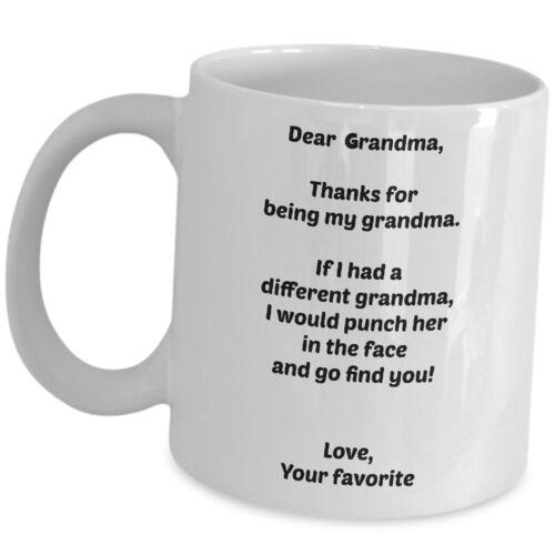 Funny Grandma Gift Coffee Mug For Nana Gran Granny Grand Mother Day Tea Cup Gag