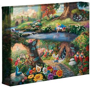 Thomas Kinkade Studios Alice in Wonderland 8 x 10 Gallery Wrapped Canvas Disney