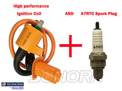 HIGH PERFORMANCE IGNITION COIL 50-250 GY6 4STROKE SCOOTER MOPED ATV VIP JCL ZNEN