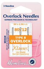 Größe 80/12 Nähmaschine Nadel - Klasse Overlock Nadeln Arten B - Packung 5