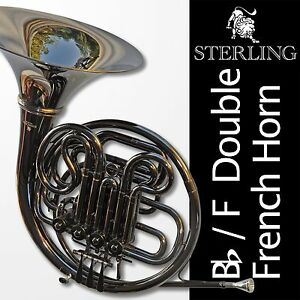 DARK-NICKEL-Plated-STERLING-Bb-F-Double-FRENCH-HORN-Pro-Backpack-Case