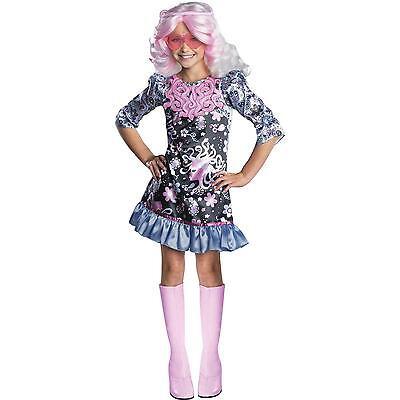 Girls Monster High Viperine Gorgon Costume Halloween Fancy Dress Kids Child NEW