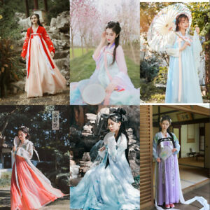 397dd981d Image is loading Chinese-Style-Ancient-Ruqun-Hanfu-Cosplay-Costume-Long-