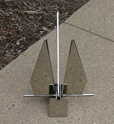 Stainless Steel Claw//Bruce Style Anchor Heavy Duty 1kg //2.2lb Boat Anchor