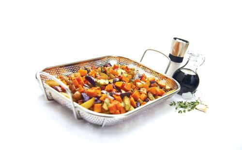"""GrillPro Premium Stainless Steel Roasting Topper 15/"""" x 11/"""" 98190"""