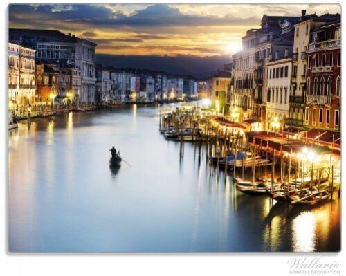 Wallario Glas Schneidebrett 30 x 40 cm Canal Grande Venedig Abend