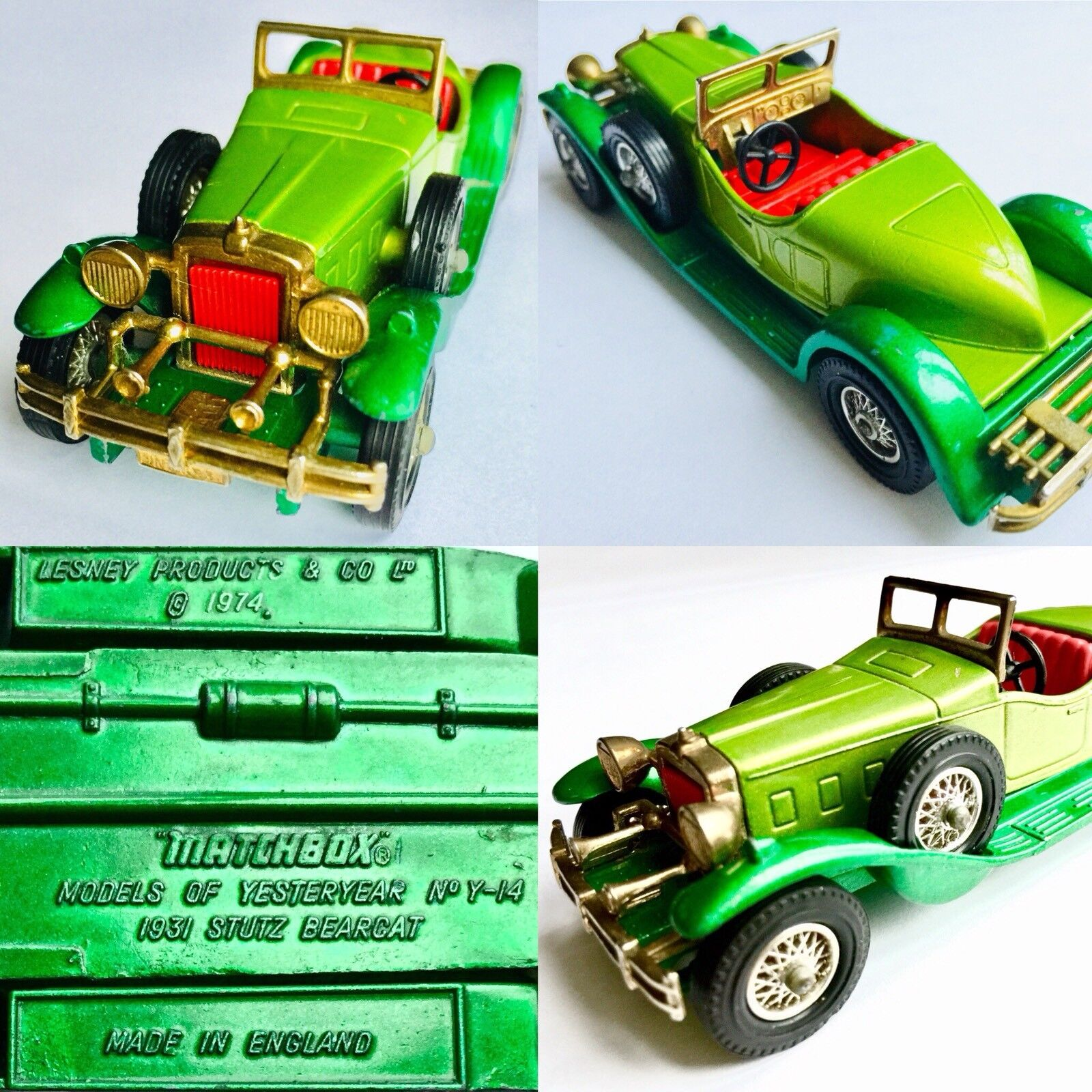 Matchbox Models of Yesteryear No Y-14 1931 Stutz Bearcat (Lensey Products 1974)