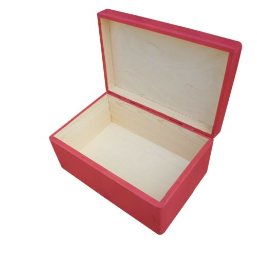 WOODEN BOX//TRUNK IN FOUR TYPES OF FINISHING IN PINK COLOR