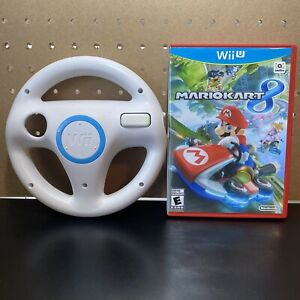"""Mario Kart 8"" for the Nintendo Wii U W/ Steering Wheel - Tested - Free Ship!"