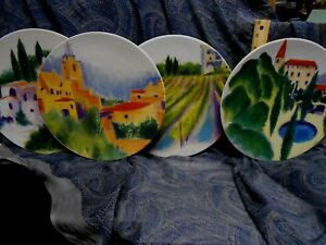 Set-of-Four-4-Certified-International-PROVENCE-FRENCH-COUNTRY-Dinner-Plates