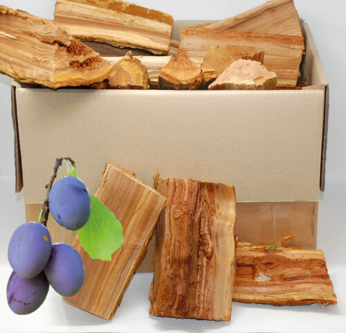 ! Smoker-Holz PFLAUME 15Kg trocken Aromastark Grillholz sortenrein 100/% Natur