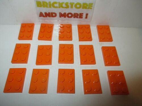 Lego Plate Plaque 2x3 3021 Orange Choose Quantity x2 x4 x10 x20 x40