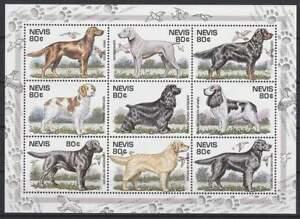 Nevis-postfris-1995-MNH-896-904-Honden-Dogs-hbg014