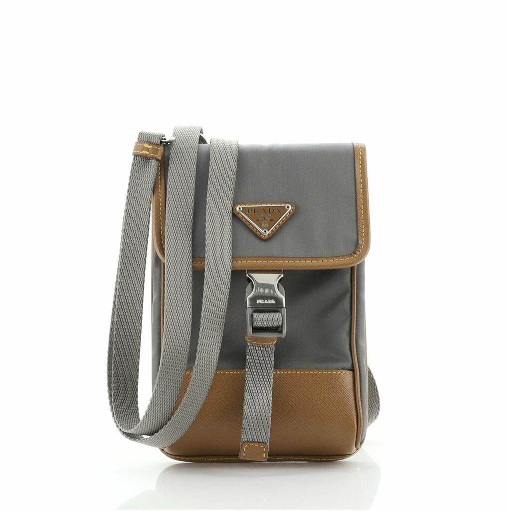 Prada Smartphone Case Crossbody Tessuto with Saffiano Leather    eBay