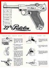 Erma Luger .22 Pistol Manual c1965