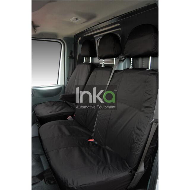 Ford Transit Custom MY18 onward INKA Tailored Waterproof Front Seat Covers Black UK