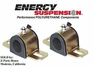 Energy Suspension 3.5118G Sway Bar Bushing Set Black Performance Polyurethane