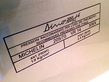 "Ferrari Dino 308 GT4 Tyre Tire Information Window Sticker Michelin XWX 14"""