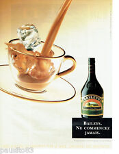 PUBLICITE ADVERTISING 036  1999  Baileys   the Original au Café de Flore