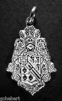 Alpha Phi Omega, Αφω, Sterling Silver Crest Large Charm By Mccartney