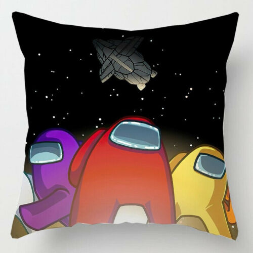 Game Among Us Anime Cute Pillow Case Square Sofa Cushion Cover Bedroom Decor New