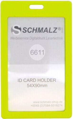 10 STÜCK Ausweishülle Kartenhalter Ausweishalter Hartplastik Werksausweis