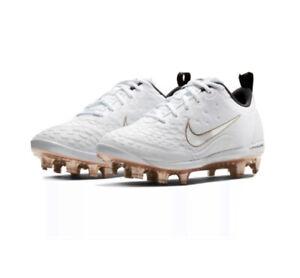 académico entregar Adepto  Nike Lunarlon Hyperdiamond Women's Size 9.5 Softball Cleats White Gold  856493109 | eBay