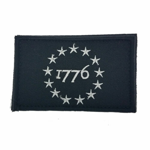 THE DECLARATION OF INDEPENDENCE 1776 USA MORALE BADGE EMBROIDERED HOOK PATCH //02