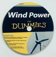 Wind Power for Dummies Alternative Energy Prepper Sustainable windmill on CD DVD