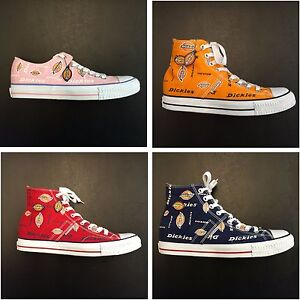 cda622cc352 Details about Dickies, CANVAS (LOW TOP PINK) HIGH TOP ASSORTED COLOR,  Dickies Logo Shoes,