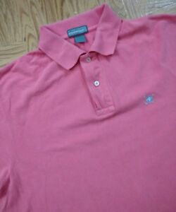 Alan-Flusser-Golf-Performance-Polo-Shirt-Short-Sleeve-Men-039-s-Large-L-Pink-Salmon