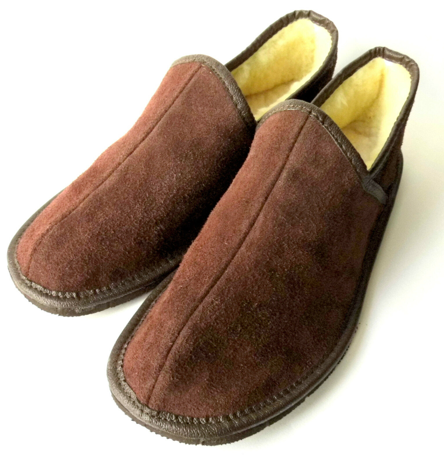 Men's/Women's Slippers, Genuine LEATHER (Suede) +  Sheep Wool