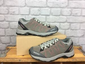 HI-TEC-LADIES-UK-6-EU-39-LIBERO-II-WATERPROOF-MULTISPORT-GREY-PINK-SHOES-RRP-60