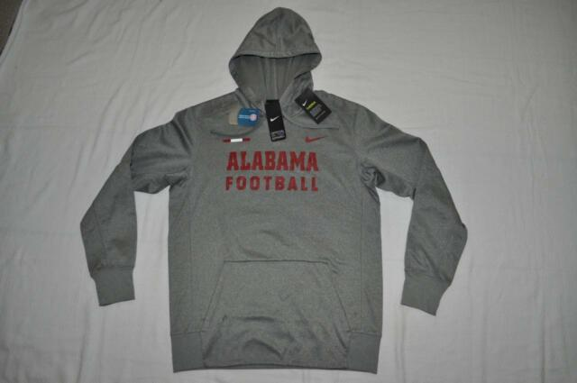 timeless design 6343e 47be0 Alabama Crimson Tide Football Nike Therma Hoodie Mens Small Gray