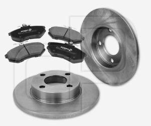 2-Bremsscheiben-und-4-Bremsbelaege-AUDI-80-B3-vorne-256-mm-voll