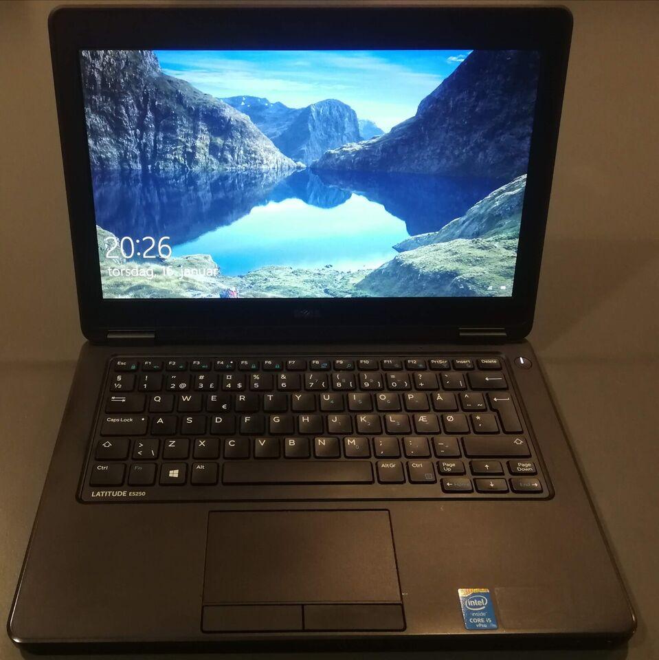 Dell Latitude E5250, Intel Core i5 (5300U) 2.30 GHz, 8 GB ram