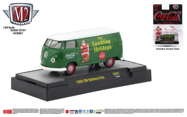 1:64 M2 Machines *COCA COLA COKE A01* Mint Green 1960 VW Delivery Van NIP