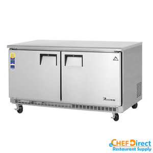 Image Is Loading Everest ETBWR2 60 034 Double Door Undercounter Refrigerator
