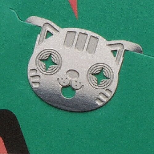 cute mini metal SMILE KITTY BOY cat bookmark silver color for gift korea fashion