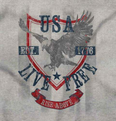 USA Live Free Rise Above Eagle American Country Eagle Gift Long Sleeve TShirt