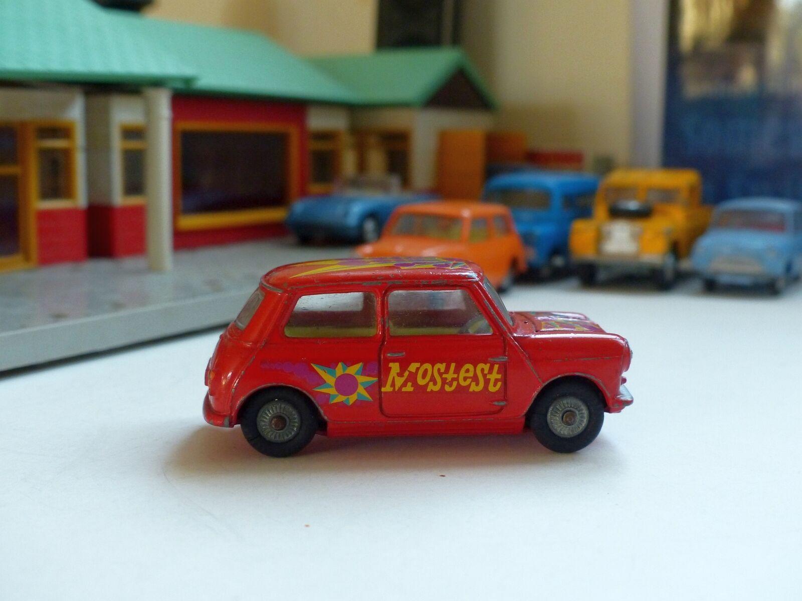 Corgi Toys 349 Morris Mini-menor 'Oso' ' pop art' Original