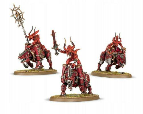 Age of Sigmar. Warhammer 40k *New On Sprue* 3x Khorne Bloodcrushers