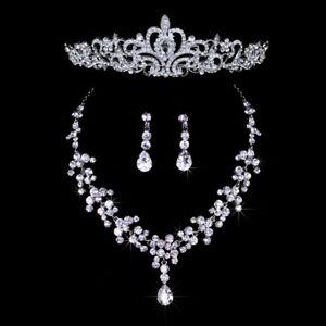 1X-Wedding-Party-Bridal-Bridesmaid-Flower-Crown-Tiara-Necklace-Earring-Set-R4A8