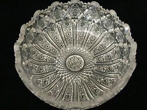 VTG-ABP-American-Brilliant-Detail-Cut-Crystal-Glass-Bowl-8-1-4-034-D-x-3-1-2-034-H